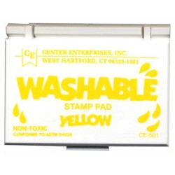 STAMP PADS WASHABLE YELLOW CE501