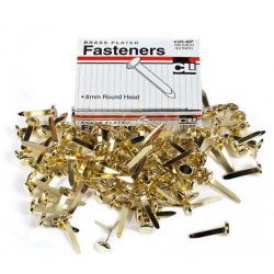"""PAPER FASTENERS ROUND HEAD BRASS PLATED 3/4"""" 100ct"""