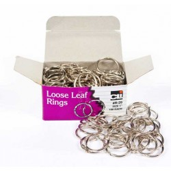 "BINDER BOOK LOOSE LEAF RINGS 1"" DIAMETER 100ct"