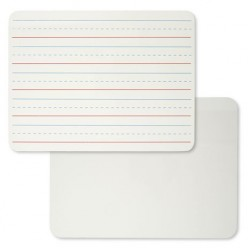 "DRY ERASE BOARD 9"" x 12"" TWO SIDED ONE RULED ONE PLAIN Cli"