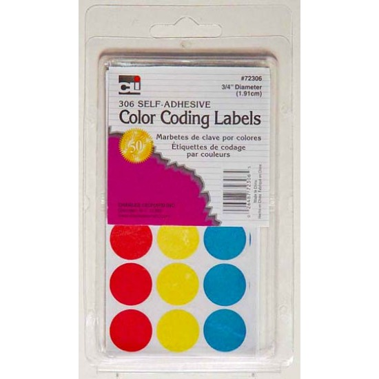 LABELS COLOR CODING SELF-ADHESIVE 306/BX  CLI