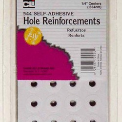 REINFORCEMENTS WHITE SELF ADHESIVE 544ct  Cli