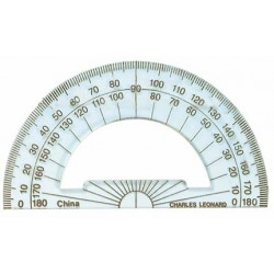 "PROTRACTOR 4"" CLEAR - PLASTIC BULK PACK"