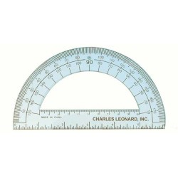 "PROTRACTOR 6"" CLEAR - PLASTIC BULK PACK"