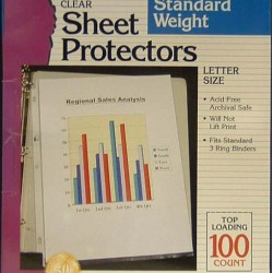 SHEET PROTECTOR STANDARD WEIGHT CHARLES LEONARD 100/BOX