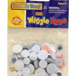 WIGGLE EYES ROUND ASST'D SIZES 100ct. MULTI