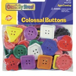 BUTTONS COLOSSAL  ASST SIZES  & SHAPES  60 ct