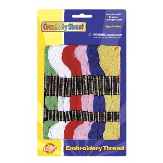 EMBROIDERY THREAD ASSORTED COLOR PACK 24 CT