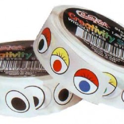 WIGGLE EYES STICKERS BLACK EYES  ON A ROLL 1000CT.