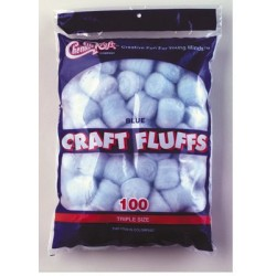 CRAFT FLUFFS  TRIPLE SIZE CREATIVITY STREET 100ct LT BLUE