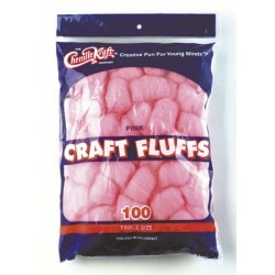CRAFT FLUFFS  TRIPLE SIZE CREATIVITY STREET 100ct PINK