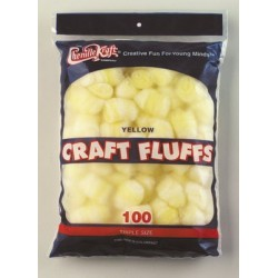 CRAFT FLUFFS  TRIPLE SIZE CREATIVITY STREET 100ct YELLOW