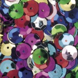 SEQUINS CUPPED MULTI COLOR 1 oz.  8 mm