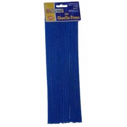 """PIPE CLEANERS CHENILLE STEMS 12"""" 100 CT. ROYAL BLUE"""