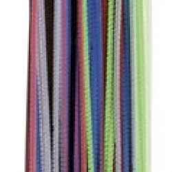 "PIPE CLEANERS (CHENILLE STEMS) 12"" 100ct. ASST'D"