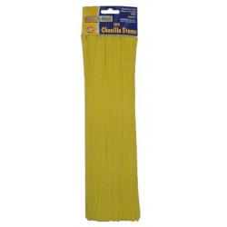 "PIPE CLEANERS (CHENILLE STEMS) 12"" 100ct. YELLOW"