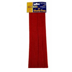 "PIPE CLEANERS (CHENILLE STEMS) 12"" 100ct. RED"
