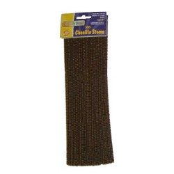 "PIPE CLEANERS (CHENILLE STEMS) 12"" 100ct. BROWN"