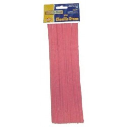 """PIPE CLEANERS CHENILLE STEMS 12"""" 100 CT. PINK"""