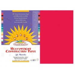 "CONSTRUCTION PAPER 65 lb.12"" X 18"" 50 ct. HOLIDAY RED"