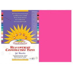 "CONSTRUCTION PAPER HOT PINK 12"" x 18""  50 ct."