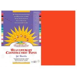"CONSTRUCTION PAPER 65 lb.12"" X 18"" 50 ct. ORANGE"