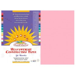 "CONSTRUCTION PAPER 65 lb.12"" X 18"" 50 ct. PINK"