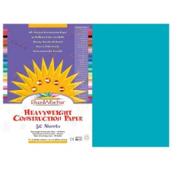 "CONSTRUCTION PAPER 65 lb.12"" X 18"" 50 ct. TURQUOISE BLUE"