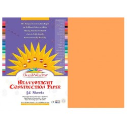 "CONSTRUCTION PAPER  YELLOW-ORANGE 12"" x 18"" 50 ct."
