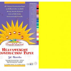 "CONSTRUCTION PAPER 65 lb.12"" X 18"" 50 ct. YELLOW"