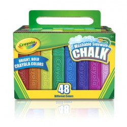 CHALK  SIDEWALK COLORS CRAYOLA 48 ct