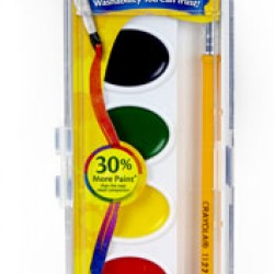 PAINT WATERCOLOR WASHABLE CRAYOLA  W/BRUSH  8ct.