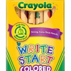 PENCIL COLORING CRAYOLA WRITE START THICK 8ct