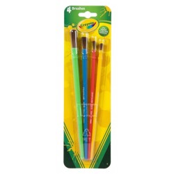 BRUSH CRAYOLA ART AND CRAFT 4 PACK