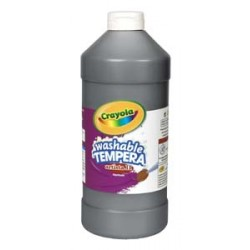 PAINT TEMPERA ARTISTA II WASHABLE LIQUID   32oz.  BLACK