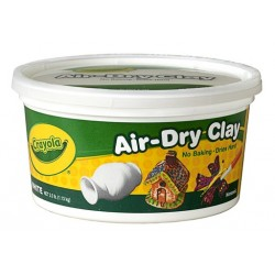 CLAY CRAYOLA AIR DRY 2.5 LB WHITE