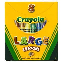 "CRAYONS CRAYOLA LARGE 4"" X 7/16"" TUCK BOX 8 CT"