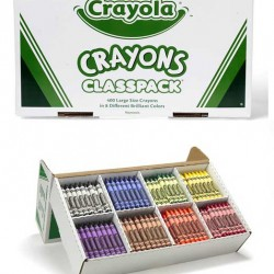 CRAYONS CRAYOLA CLASSPACK 8 COLORS LARGE SIZE 400 ct