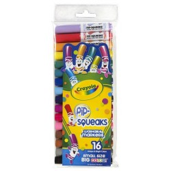 MARKERS CRAYOLA PIP-SQUEAKS™ 16ct CONE TIP(BROAD)