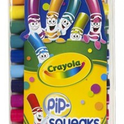 MARKERS CRAYOLA PIP-SQUEAKS™ 16ct CONE TIP
