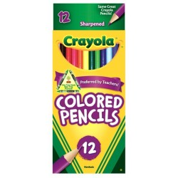 PENCIL COLORING CRAYOLA LONG   12's
