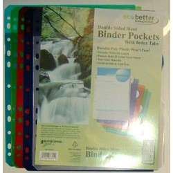 DIVIDERS 5 SUBJECT POLY W/ POCKETS TWO SIDED BETTER OFFICE