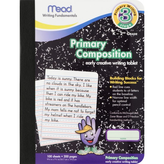 "COMPOSITION BOOKS MEAD PRIMARY RULED 9 3/4"" X 7 1/2"" 100 ct"