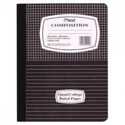 COMPOSITION BOOKS MARBLE 1/2 GRAPH 1/2 COLLEGE LINE 100ct