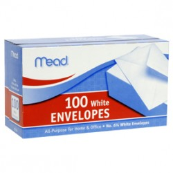 "ENVELOPES MEAD BOXED     6 3/4"" 100/CT"