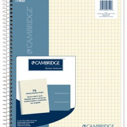 NOTEBOOK CAMBRIDGE QUAD RULED PLANNING PAD 70ct 11 X 8.5