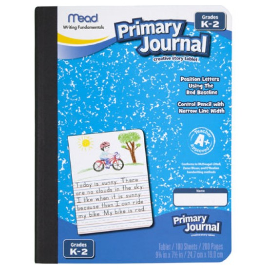 "COMPOSITION BOOKS MEAD PRIMARY JOURNAL 9 3/4"" X 7 1/2"" 100 ct"
