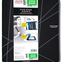 BINDER FIVE STAR ZIPPERED NYLON COVER 1.5""