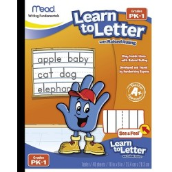 TABLET MEAD LEARN TO LETTER W RAISED RULING 40ct was 48170