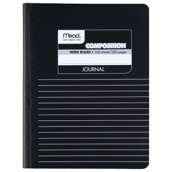 "COMPOSITION BOOKS MEAD STORY JOURNAL 9 3/4"" X 7 1/2"" 100 ct"